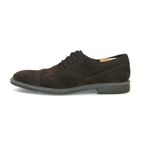Calvin Klein Mens Brown Suede Cap Toe Shoes